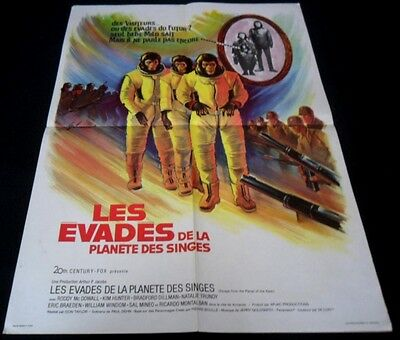 1971 Escape from the Planet of the Apes ORIGINAL FRENCH POSTER Don Taylor