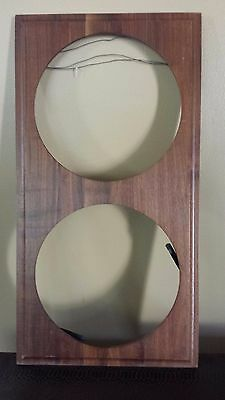 "Wood 2 Collector Plate Display Case Wall Mount 25""x13"" Fits 11"" Diameter Plates"