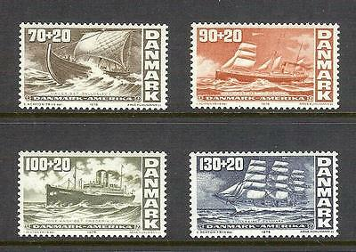 Denmark 4x 1976 Bi-Centenary of American Revolution issues MNH see scans x2