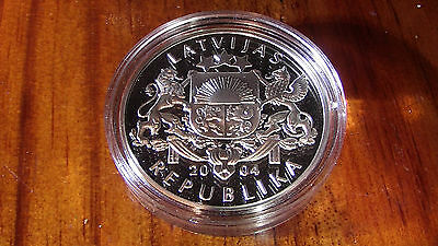 Latvia 2004 1 lats silver proof coin