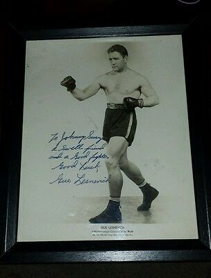 Gus Lesnevich Light Heavyweight Champion Autographed Signed 8x10 Photo no COA