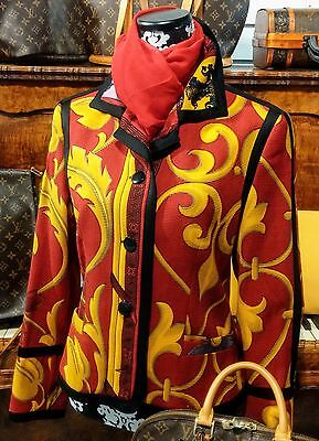 JACKET woman vintage 90's VERSUS GIANNI VERSACE TG.46/32 circa M made Italy