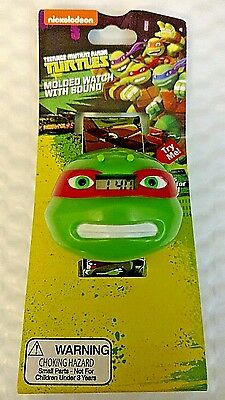 Teenage Mutant Ninja Turtles Molded LCD Watch w/Sound Feature Battery Operated