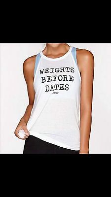 NEW Womens Lorna Jane Activewear Weights Before Dates Active Tank Size Small