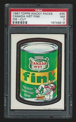 1967 Topps Wacky Packages Canada Wet Fink #35 PSA 7