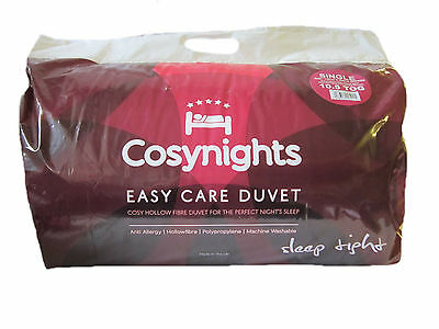 Cosynights Easy Care Single Size 10.5 Tog Duvet