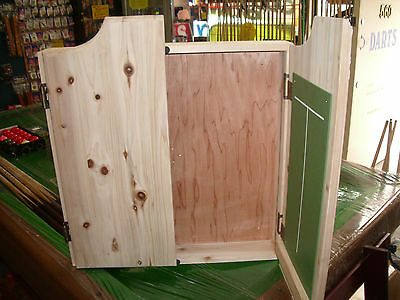 Dart Board Cabinet Solid Wood Redwood, Pine or Unstained
