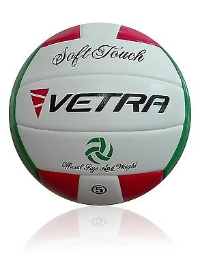 Vetra Volleyball Soft Touch Ball Official Red/Green/White Outdoor Indoor Game