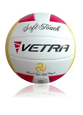 Vetra Volleyball Soft Touch Ball Official Red/Yellow/White Outdoor Indoor Game