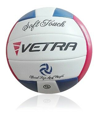 Vetra Volleyball Soft Touch Ball Official Blue/Red/White Outdoor Indoor Game Gym