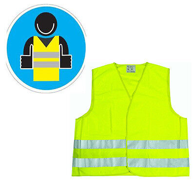 Jacket Reflector Yellow Reflective For Car Motorbike Bike Vest Emergency