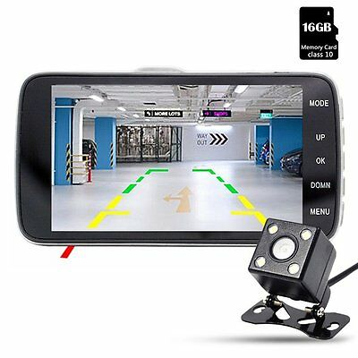 Dash Cam, Junsun Car Camera DVR Full HD 1080P Dual Lens 170? with Rear View with