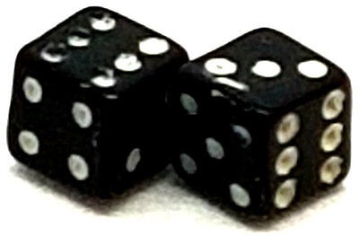 5x Black Dice Spare Replacement Acrylic Ball Balls NEW Body Piercing Jewelry