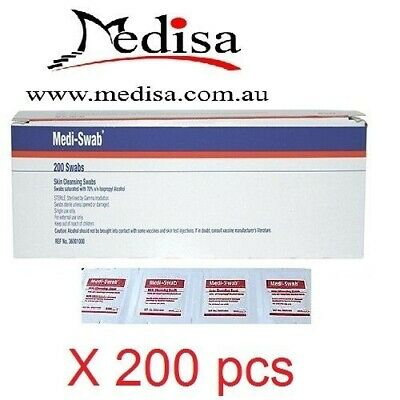 200 pcs Alcohol Wipes , Medical Wipes / Medi Swabs - Sterile Screen Cleaners