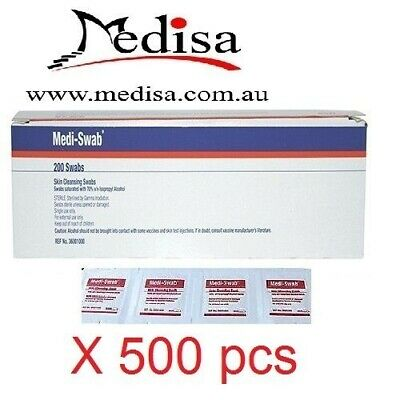 500 pcs Alcohol Wipes , Medical Wipes / Medi Swabs - Sterile Screen Cleaners