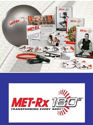 MET-RX 180 BRAND NEW & SEALED FULL WORKOUT PROGRAM. Fitness DVD's & Equipment