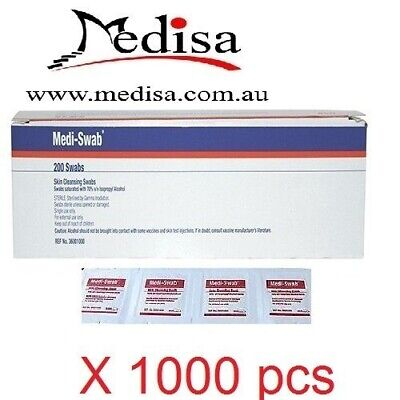 1000 pcs Alcohol Wipes , Medical Wipes / Medi Swabs - Sterile Screen Cleaners