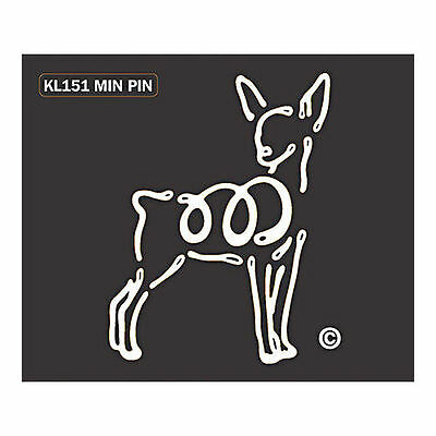 Miniature Pinscher Min Pin Dog K-Lines Dog Car Window Tattoo Decal Sticker