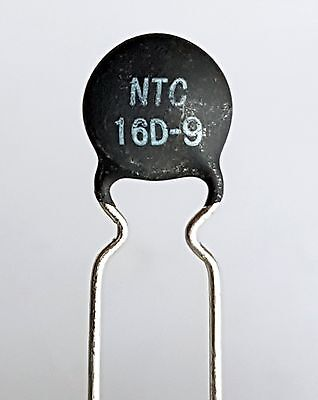 2 x NTC 16D-9 Inrush Current Limiter, Power Thermistor 16 ohm 1Amp -ref:426