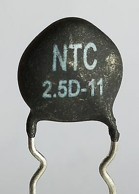 2 x NTC 2.5D-11 Inrush Current Limiter, Power Thermistor 2.5 ohm 5Amp -ref:422