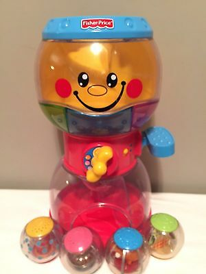 Fisher Price SWIRLIN SURPRISE GUMBALL MACHINE & ROLL A ROUNDS Dispenser 4 Balls