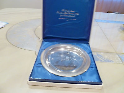 Bringing Home Tree Norman Rockwell Franklin Sterling Silver 1st Christmas Plate