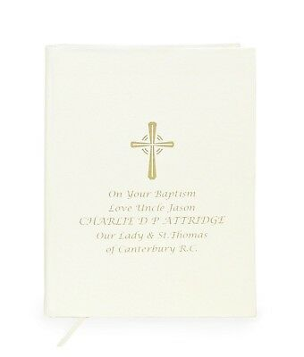 Personalised Companion Holy Bible Silver Cross Gift Boy Girl Child Christening