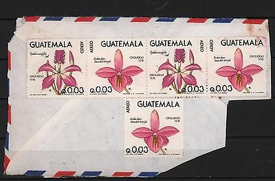 Guatemala 1978 Cover Cut Orchids 2 Strips Of Flower Blumen
