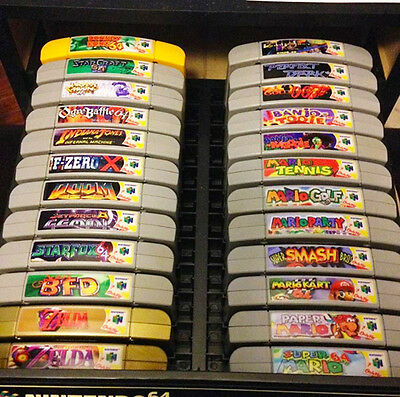 Nintendo 64 N64 Sticker Labels (For All 296 Custom Game Stickers)