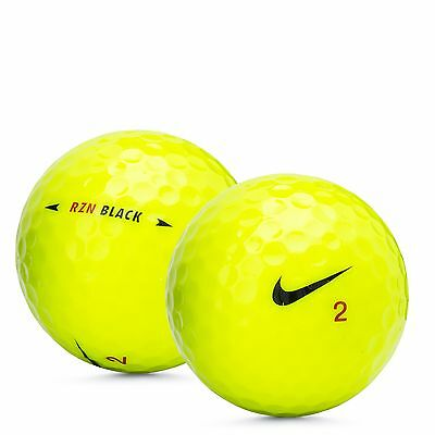 96 Nike RZN Black Yellow Used Golf Balls Mint AAAAA