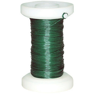 Spooled Floral Wire 30 Gauge 118' Green FL032