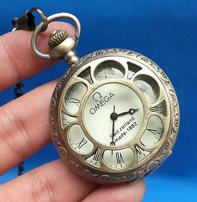 collection Bronze sculpture mechanical old pocket watch