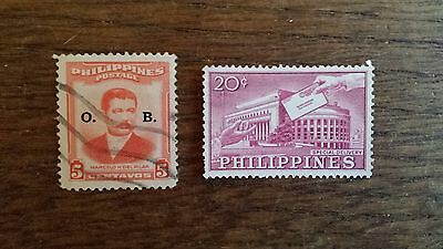 LOT Collection 2 Timbres PHILIPPINES - ASIE DIVERS