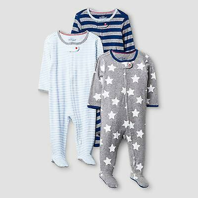 Baby Boys' 3 Pack Sleep N' Play Baby Cat & Jack™ - Navy/Heather Grey