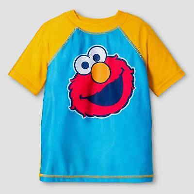 Toddler Boys' SESAME STREET® Elmo Rash Guard - Turquoise