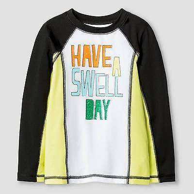Toddler Boys' Have A Swell Day Rash Guard Cat & Jack™ - Black & White