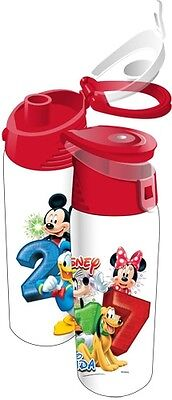 Disney Mickey Mouse Gang 20oz 2017 Flip Top Plastic Bottle Stacked Water Florida
