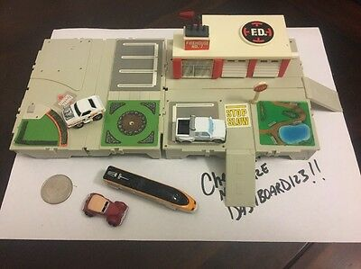 Micro Machines Travel City Fire Department  & Basic  W/ 4 Cars V1