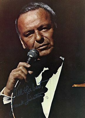 Frank Sintra hand signed photograph