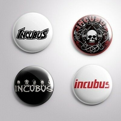 4 INCUBUS - Pinbacks Badge Button 25mm 1''