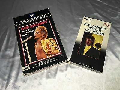 Rod Stewart-Live At The Los Angeles Form  & Tonights He's Yours Vhs-Tapes