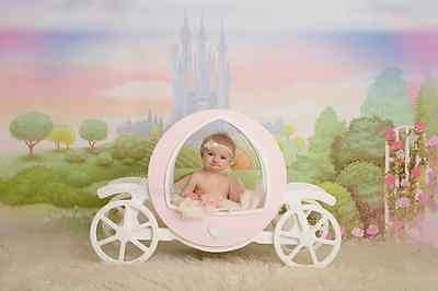 Wooden Carriage Newborn Baby Photography Photo Prop
