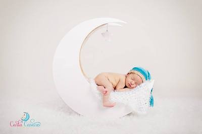 Newborn Baby Wooden Moon Photo Prop for Newborn Photography