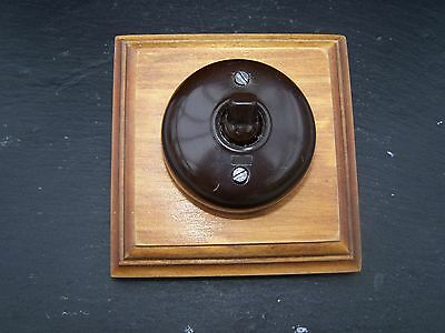Period Vintage Clipsal Pattress mounted light switch