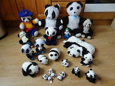 Bundle Of 20 Large & Small Plush Soft PANDAS 17 inches High max