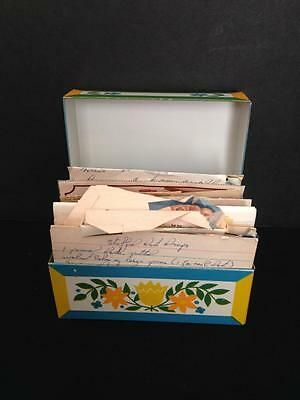 Syndicate Manufacturing Recipe Box with vintage recipes, NICE