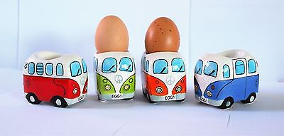 Camper Van Style - Set Of 4 Egg Cups - Gift Boxed