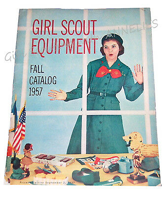 CATALOG, FALL 1957 Girl Scout Uniforms Equipment Gifts Excellent Combine Ship