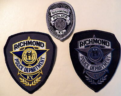 Richmond (KY) Police Department Patches - Set of 3