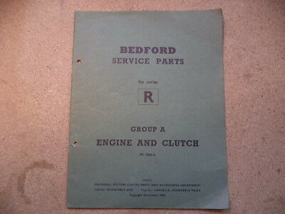 Bedford Service Parts R Series Book Engine/clutch.1968 Copyright